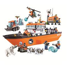 394pcs Polar Adventure Crane Truck Arctic Outpost Model Building ...