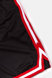 <b>Шорты URBAN CLASSICS Stripes</b> Mesh Shorts Black-Red-White ...