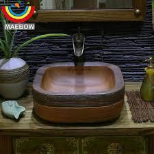 Handmade Primitive Style Stone Like Porcelain Countertop Lavabo ...