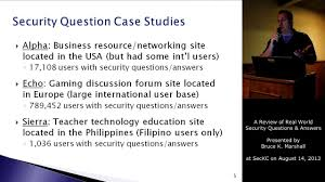 a review of real world security questions answers seckc a review of real world security questions answers seckc