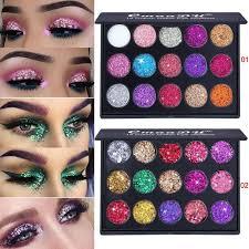 <b>18 Color Glitter</b> Eyeshadow Palette Diamond <b>Sequins</b> Shiny Eye ...
