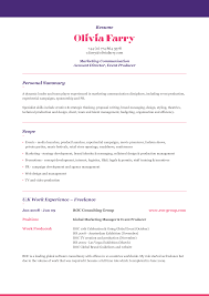example resume profile chronological resume example resume profile