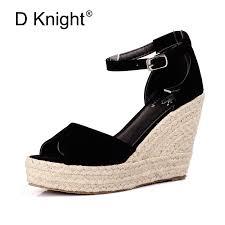 Plus Size 34 44 Summer <b>Style Women</b> Wedge Sandals <b>Fashion</b> ...