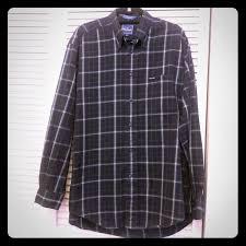 <b>Faconnable</b> Shirts | Navy Plaid Button Down Collared Shirt | Poshmark