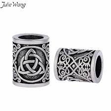 <b>Julie Wang 1PC Antique</b> Silver Round Bead Viking Knots Runes ...