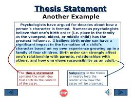 essay thesis statement example  thesis statement for informative  thesis statement