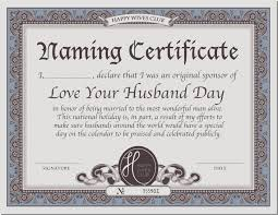 national holiday naming certificate happy wives club published 22 2013 at 3300 times 2550 in national holiday naming certificate