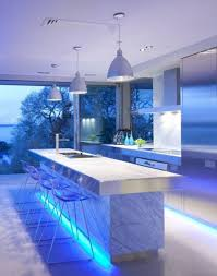 kitchen lighting fixtures led for under cabinet lights below danby marble countertop with stainless steel edging beside modern acrylic bar stools of kitchen cabinet lighting modern kitchen