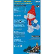 <b>Фигура светодиодная Uniel</b> «Снеговик-2» в Иваново – купить по ...