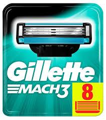 Купить Cменные <b>кассеты</b> для бритья <b>Gillette Mach 3</b>, 8 шт с ...