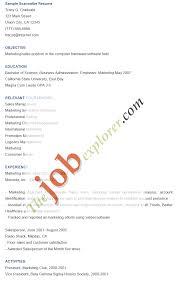 scannable resume format resume format  scannable
