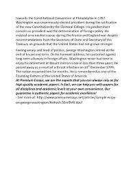 sample essay on george washington   towards