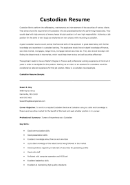 custodian resume samples cipanewsletter cover letter custodian resume samples custodian resume
