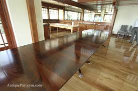 Dining Room Tables For 10 10 To18 Foot Large Triple Pedestal Mahogany Dining Table