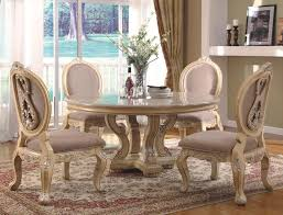Round Marble Kitchen Table Sets Glass Top Dining Table Set 4 Chairs Round Oak Dining Table And 4