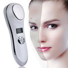 <b>Portable Ultrasonic</b> Hot Cold Therapy Sonic Vibrating Facial Skin ...