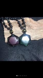 2018 <b>Drop Shipping</b> Black <b>Obsidian Pendant</b> Necklace Obsidian ...
