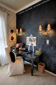 chalkboard wall home office reveal beautiful home offices ways