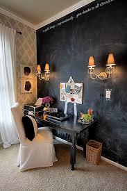 chalkboard wall home office reveal beautiful home office chalkboard