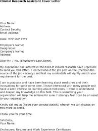 Sample Research Assistant Resume  Cover Letter Sample Psychology