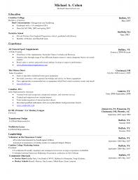 Example Resume Layout  resume template for high school student