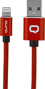 Купить <b>Кабель Qumo USB to</b> Apple Lightning 1m Red по выгодной ...