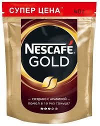 Купить <b>Кофе растворимый Nescafe</b> Gold, пакет, 40 г по низкой ...