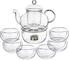 <b>Набор чайный Agness</b>, 250-115, прозрачный, <b>7</b> предметов ...