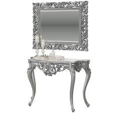 Консоль КН-01 + Зеркало ЗК-04, цвет серебро, ШхГхВ 122х48х82 ...