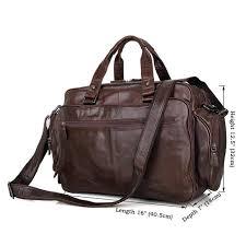 "Men's <b>genuine leather briefcase</b> 16"" Big <b>real leather</b> laptop tote <b>bag</b> ..."
