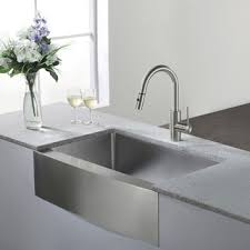 undermount kitchen sink stainless steel: kraus  inch farmhouse single bowl stainless steel kitchen sink with noisedefend soundproofing
