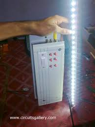 led 12v emergency light circuit diagram circuits gallery working of emergency light charger circuit