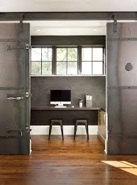 Small Office Kitchen 20 Home Offices With Sliding Barn Doors