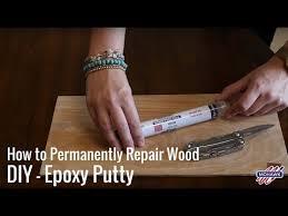 How to Permanently Repair Wood DIY - <b>Epoxy</b> Putty - YouTube