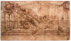 the adoration of the magi by leonardo da vinci perspectival study of the adoration of the magi by leonardo da vinci