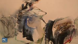 East meets West in <b>Chinese abstract</b> paintings - YouTube