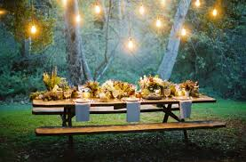 sweet hanging lights for chic backyard party inspiring outdoor backyard party lighting