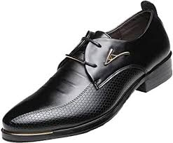 DADAWEN <b>Men's</b> Business British Pointed-Toe Oxford <b>Shoes Four</b> ...