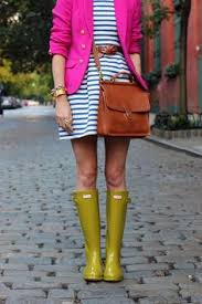 Image result for spring rainy day street style