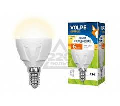 <b>Лампа</b> светодиодная <b>Volpe LED</b>-<b>G45</b>-<b>6W</b>/WW/<b>E14</b>/<b>FR</b>/<b>S</b> 10шт ...