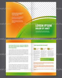 vector empty trifold brochure template design green and vector empty trifold brochure template design green and orange elements stock vector 39804571
