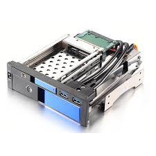 Uneatop 2.5+<b>3.5</b> dual bay aluminum case SATA hard drive caddy ...
