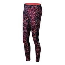 New Balance Women's <b>Impact Printed Tights</b>, Guava <b>Print</b>, X-Large ...