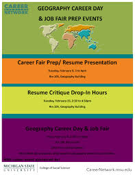 career day job fair resume presentation msu department of geography fair prep events