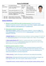 resume of kenny su working experience link