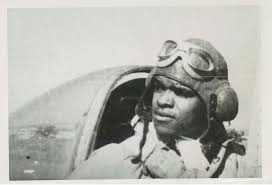 portraits of tuskegee airmen luther smith red tail squadron lhs in p 47 cockpit 1944photo2 character