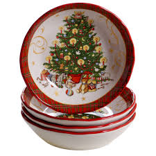 """<b>Тарелка суповая</b> Certified Int. """"<b>Винтажный Санта</b>"""" 23см"""