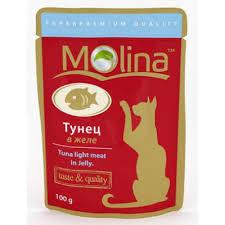 1136 <b>Молина Пауч</b> д/кошек Тунец в желе 100гр*24