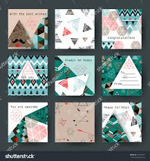collection of universal hipster vintage cards best creative hand made design for poster placard office bedroom homes sharp geometric decor