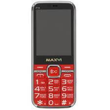 Купить <b>Сотовый телефон Maxvi P18</b> красный по супер низкой ...